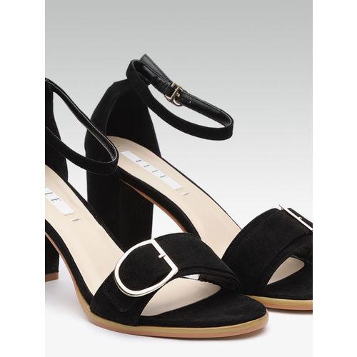Elle Women Black Solid Block Heels