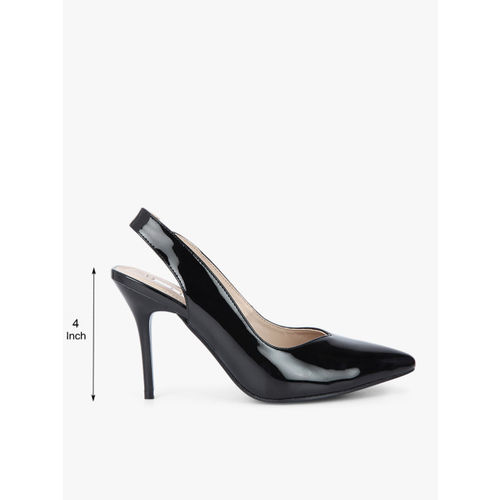 Elle Black Sling Back Stilettos