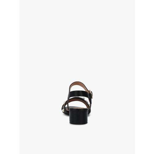 CERIZ Black Embelished Sandals