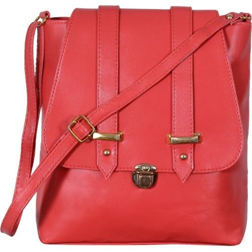 VISHESH COLLECTIONS Women Evening/Party, Casual Red PU Shoulder Bag