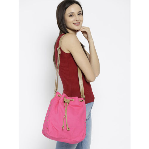 Kanvas Katha Pink Solid Sling Bag