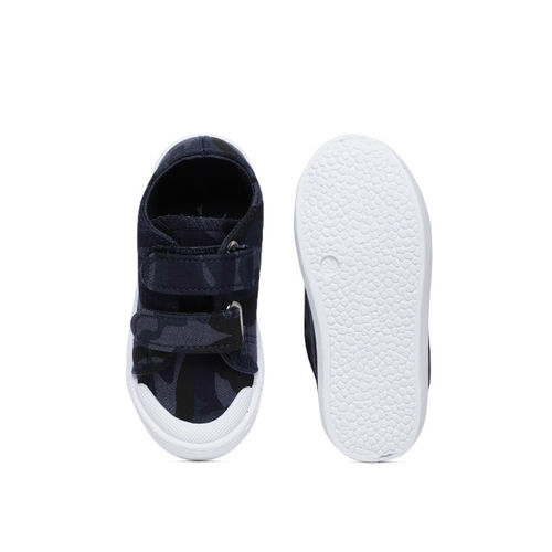 Fame Forever by Lifestyle Boys Navy Blue Slip-On Camouflage Print Sneakers