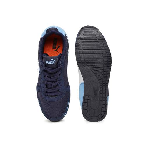 Puma Kids Navy Blue Cabana Racer Mesh V Sneakers