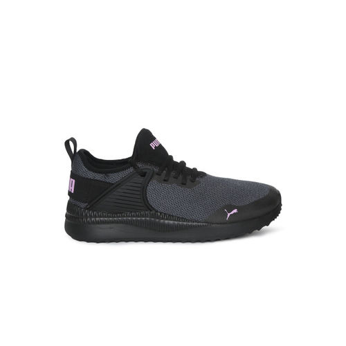 Puma Kids Black Textured Pacer Next Cage Knit Junior Sneakers