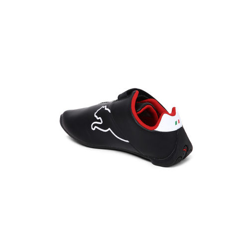 Puma Boys Black Leather SF Future Cat V PS Sneakers