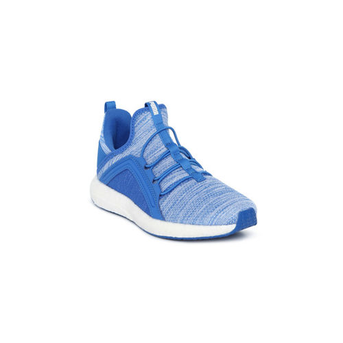 11671887085 ... Puma Boys Blue Solid Mega NRGY Heather Knit AC PS Mid-Top Sneakers ...