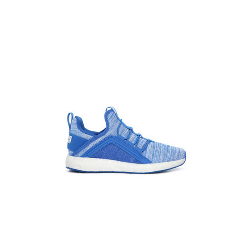 df62550ded9 ... Puma Boys Blue Solid Mega NRGY Heather Knit AC PS Mid-Top Sneakers ...