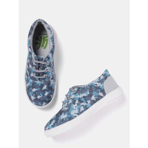 YK Boys Blue Camouflage Print Sneakers