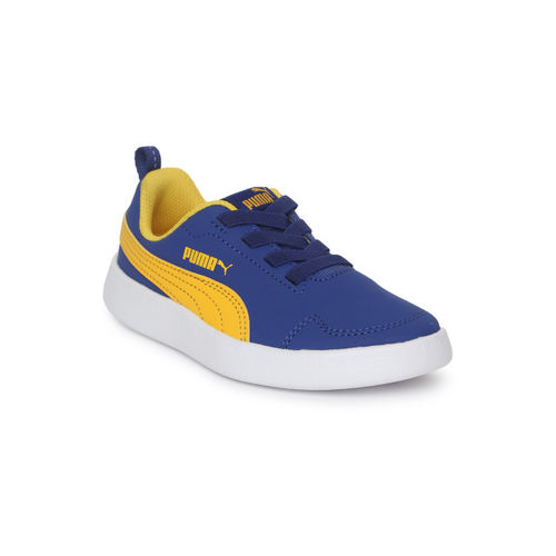 Puma Kids Blue Courtflex Pre School Sneakers