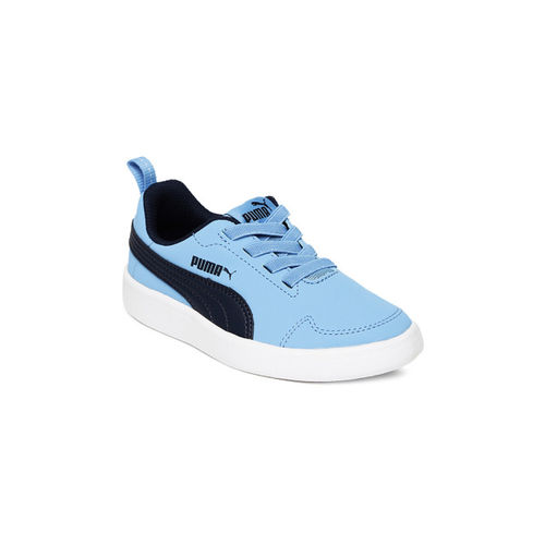 Puma Unisex Blue Courtflex PS Sneakers