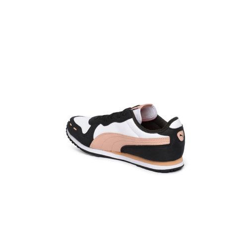 Puma Unisex White Colourblocked Cabana Racer SL IDP Sneakers