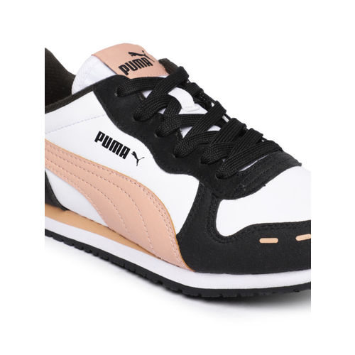 Puma Unisex White Colourblocked Cabana Racer SL IDP Sneakers