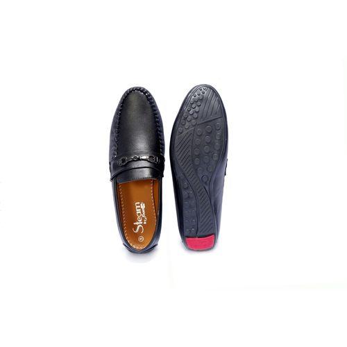 Shoebook Men's Black Loafer Shoes