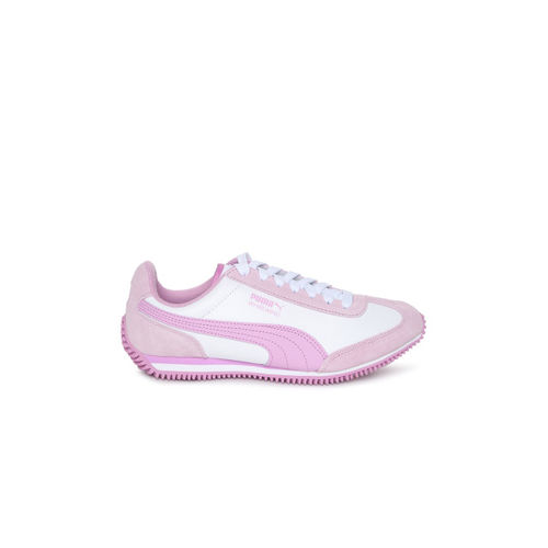 Puma Kids White & Pink Colourblocked Whirlwind L Jr Sneakers