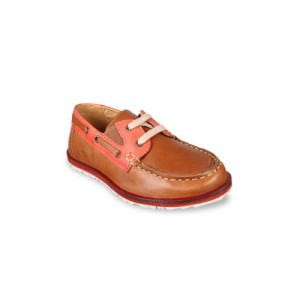 Beanz Boys Brown Leather Boat Shoes