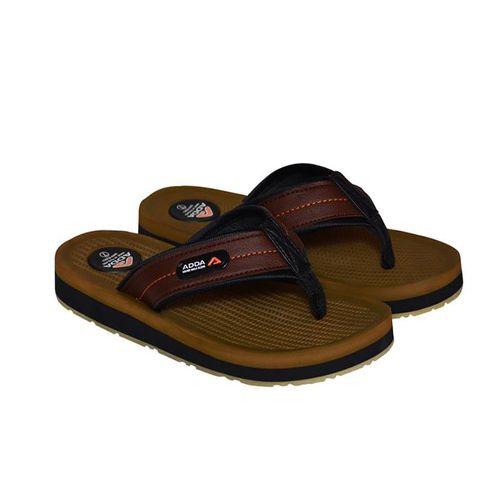 Adda Brown Color Flipflops For Men