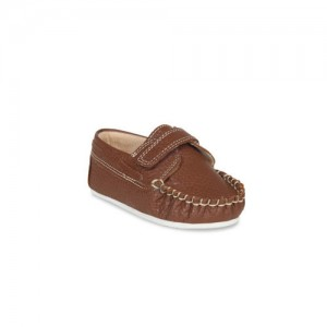 Beanz Boys Brown Leather Loafers
