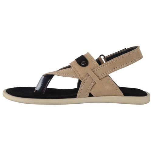 a78e36bd84b Buy Port Men s Grey Leather New Look Casual Sandal online