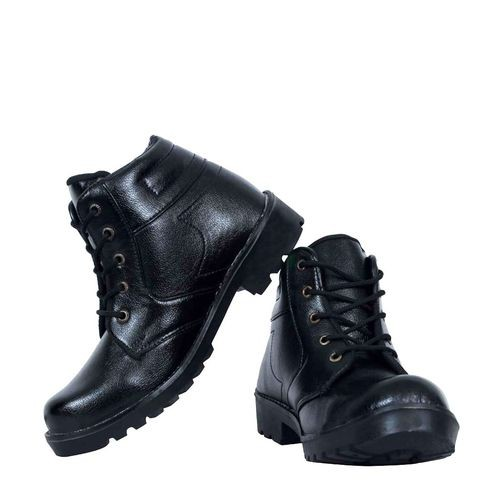 Elvace Black High Ankle boot
