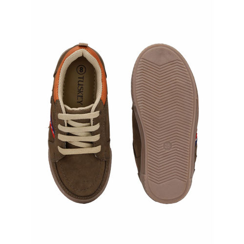 TUSKEY Boys Brown Sneakers