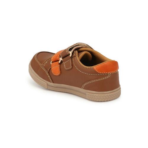 TUSKEY Boys Brown Sneakers