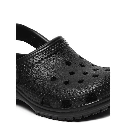 Crocs Unisex Black Solid Classic Clogs
