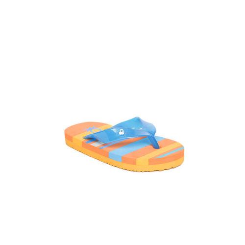 United Colors of Benetton Kids Blue & Orange Striped Thong Flip-Flops
