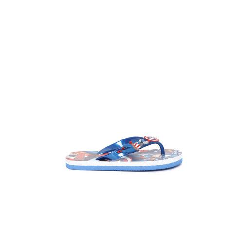 YK Marvel Boys Blue & Red Captain America Print Thong Flip-Flops