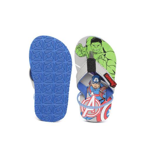 Marvel Boys Grey & Green Printed Thong Flip-Flops
