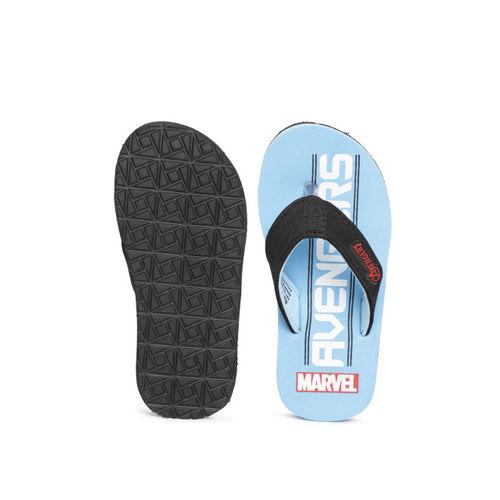 Marvel Boys Black & Blue Printed Thong Flip-Flops