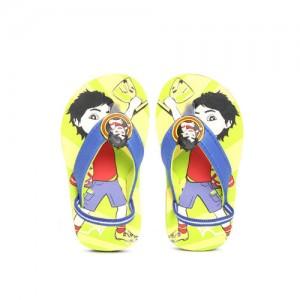 e97a28d7d132b Shiva Boys Blue   Yellow Printed Thong Flip-Flops