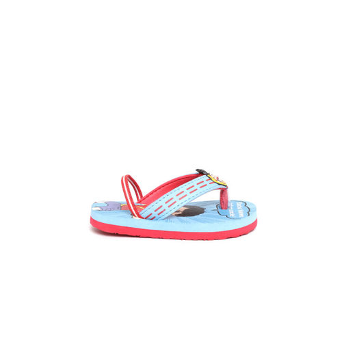Shiva Boys Blue & Red Printed Thong Flip-Flops