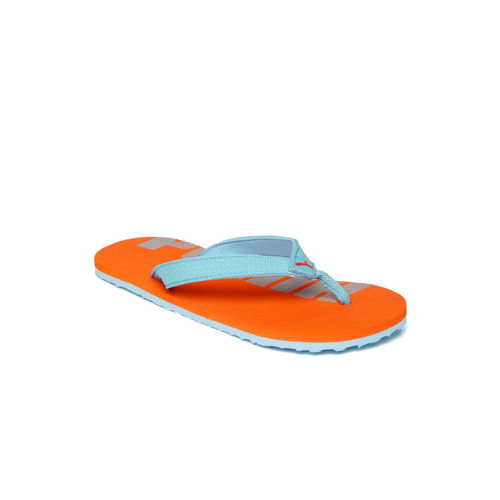 Puma Kids Blue & Orange Epic Flip V3 GU JR IDP Printed Thong Flip-Flops