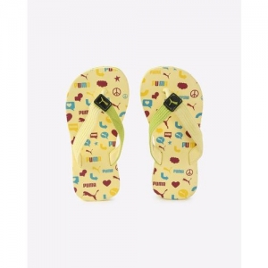 Puma Boys & Girls Slip On Slipper Flip Flop(Yellow)