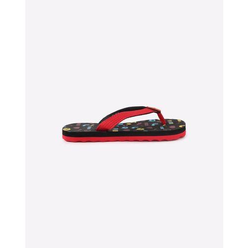d0f411119773 ... Puma Kids Red   Black Terry Y1 GU PS IDP Printed Thong Flip-Flops ...