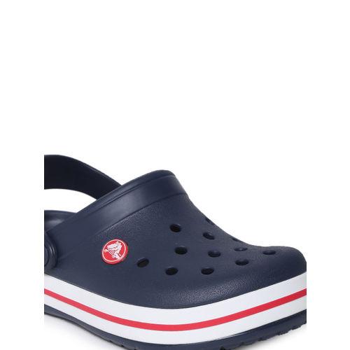 Crocs Unisex Navy Blue Solid Crocband Clogs