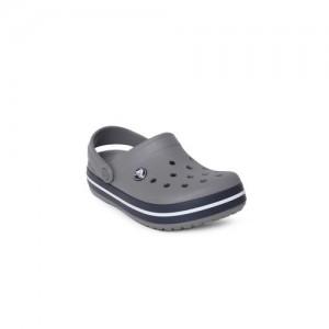 Crocs Unisex Grey Solid Crocband Clogs