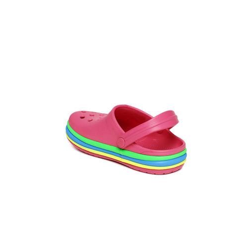 Crocs Pink Solid Clogs