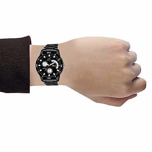 PIRASO Black Analogue Dial Watch