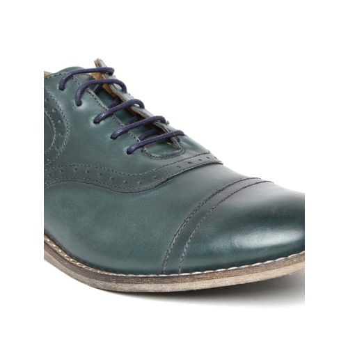 Levis Men Green Leather Brogues