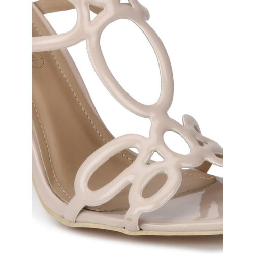 Truffle Collection Women Beige Solid Sandals