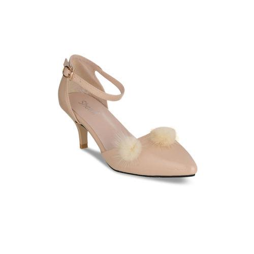 a271c78d136 Buy Sherrif Shoes Women Beige Solid Heels online