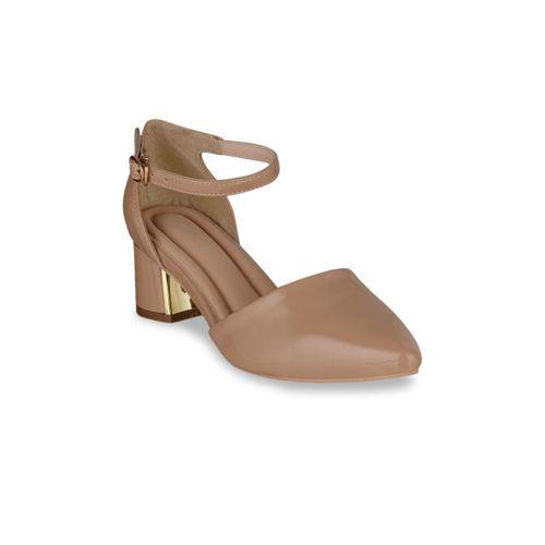 Sherrif Shoes Women Beige Solid Pumps