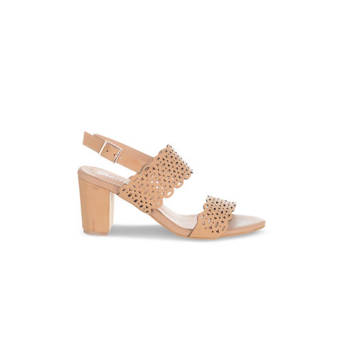Sherrif Shoes Women Beige Solid Sandals