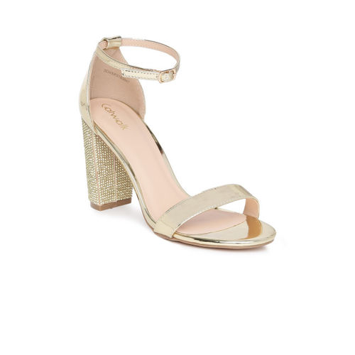 Catwalk Women Gold-Toned Open Toe Sandals