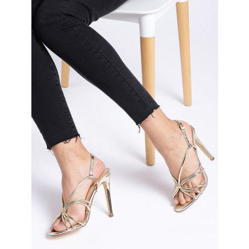 CORSICA Women Gold-Toned Solid Heels