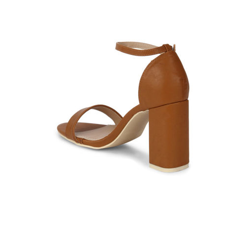 Truffle Collection Women Brown Solid Sandals