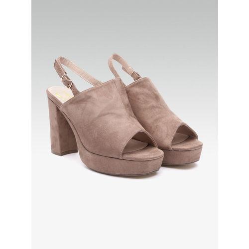 Carlton London Women Brown Solid Mules