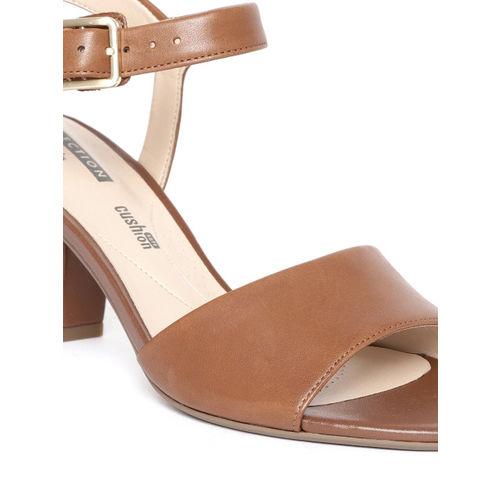 Clarks Women Brown Leather Solid Heels