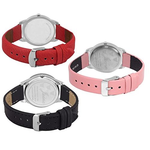 Jainx Triple Combo Multi Color Dial Analog Watch for Women & Girls - JXT807